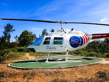 Helicopter Rides at 98 Acres Resort