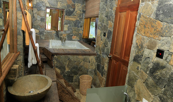 Amazing Deluxe Room Bathroom at 98 Acres Resort