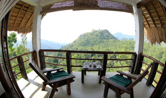 Private Terrace of Deluxe Room, 98 Acres Resort
