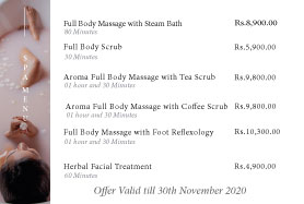 Buy one get one at the spa